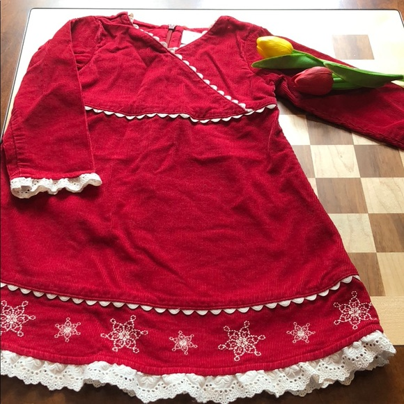 6c804715b32a1 Hanna Andersson Other - Hanna Andersson Red Snowflake Christmas Dress 3T